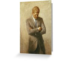 John F. Kennedy Painting  Greeting Card