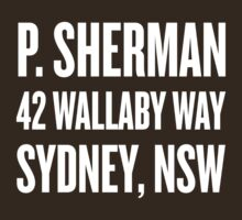 P. Sherman 42 Wallaby Way Sydney by Look Human