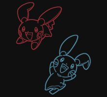 Plusle and Minun Best Friends shirt by Goosekaid