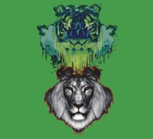 Tigers And Lions In Colour Kids Clothes