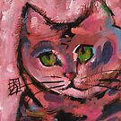 Pink Kitty by Joanie Springer