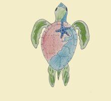 Earth Sea Turtle  T-Shirt