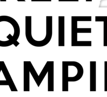 Keep Quiet Vampire Diaries Is On Sticker