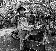 Cambodia:  The Local Fish Monger by Karen Willshaw
