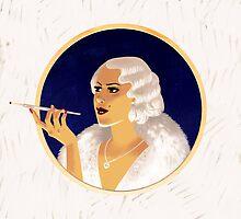 Vintage flapper girl by Dmitry Narozhny