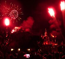 Disneyland Fireworks by FangFeatures