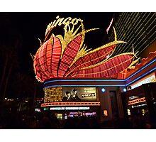 Las Vegas, The Flamingo at night. Photographic Print