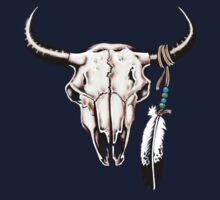 Cattle Skull T-Shirt by Walter Colvin