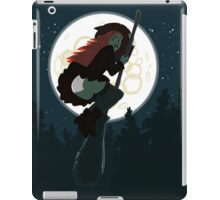 Witch flying on a broomstick iPad Case/Skin