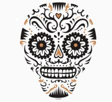 Sugar Skull SF -  on white by Andi Bird