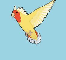 Pixel / 8-bit Parrot: Peach-faced Lovebird by Kadoodles