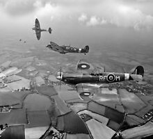 Spitfire sweep B&W version by Gary Eason