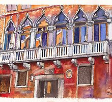 Venice Colourful Facade by Dai Wynn