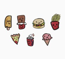 FAST FOODS STICKER PACK by raresecretegg