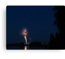 Fireworks Over The Capital City Canvas Print