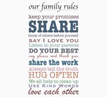 Our Family Rules (colour) T-Shirt
