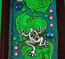 Frog on Green Leaves iphone ipod Cover by MandarinMoon
