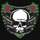 Victoria Roller Derby League Skull - Green by trossi