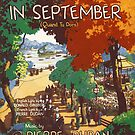 HYDE PARK IN SEPTEMBER (vintage illustration) by ART INSPIRED BY MUSIC