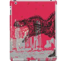 T-Rex dinosaur attacking grunge city iPad Case/Skin