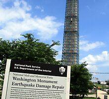 Washington Monument Earthquake Damage Repair by Cora Wandel