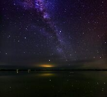 Belfast Loch Milky Way by hangingpixels