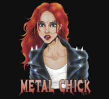 Metal Biker Chick Redhead by Luke Kegley