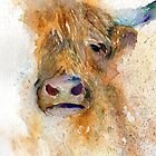 Watercolour Cow by Ruth Nolan