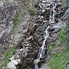 Epic Mountain Streaming Waterfall by Liane6161