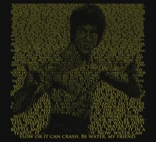 Bruce Lee Text Yellow on Colour by MrHSingh