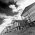Tankerton beach huts (B&W) by Stephen Knowles
