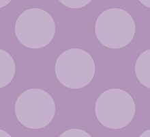 Artistic Abstract Retro Polka Dots Purple by sitnica