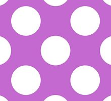 Artistic Abstract Retro Polka Dots Purple White by sitnica