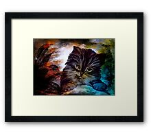 Hello, my name is Goliath. Framed Print