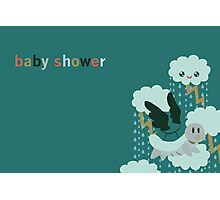 Flying Turtle Baby Shower Invites Photographic Print