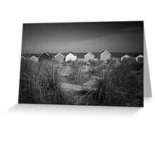 Beach Huts and Sand Dunes - Southwold Greeting Card