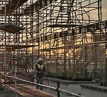 Early morning on site by awefaul