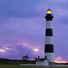 Lighthouse at Dawn - Bodie Island Light in NC by Kenneth Keifer