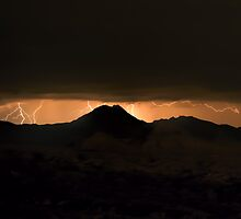 High Desert Lightning Strikes II by HDTaylor