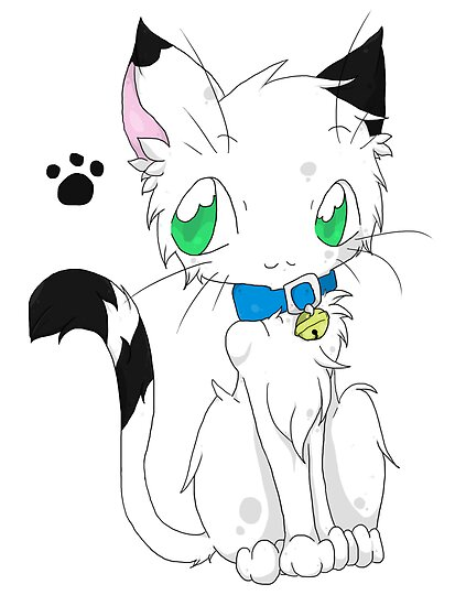 Buchi the white fur Cat by Kittyxkiara