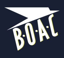 BOAC Airline T-Shirt by velocitygallery