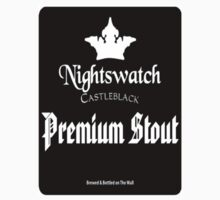 Game of Thrones House Nightswatch Beer T-Shirt by wasdstomp
