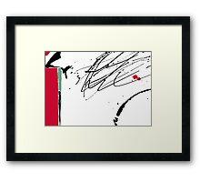 Red Splash Framed Print