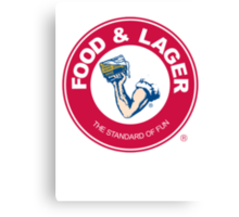 Food & Lager Canvas Print