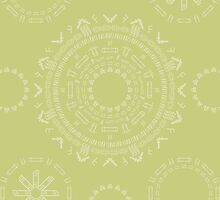 Monogram Pattern (F) in Lichen by janna barrett
