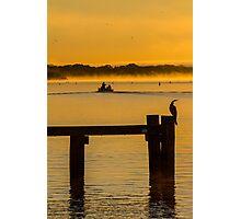 into the sunrise - Mannum SA Photographic Print