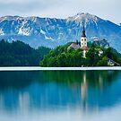 Lake Bled Island church by Ian Middleton