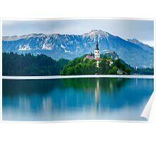Lake Bled Island church Poster