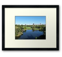 NYC View in Central Park Framed Print