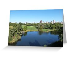 NYC View in Central Park Greeting Card